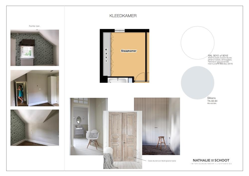 Kleedkamer In Slaapkamer : Kleurenplan kleedkamer u2013 nathalie van der schoot interieurontwerp